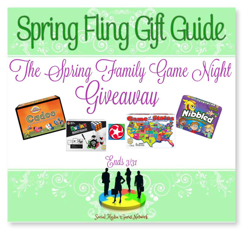 Enter The Spring Fling Family Game Night Giveaway. Ends 3/31
