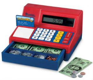 Enter the Learning Resources Giveaway and make learning fun again! One winner will receive a Pretend & Play Calculator Cash Register and a Smart Market! #giveaway #LearningResources #learninghandson