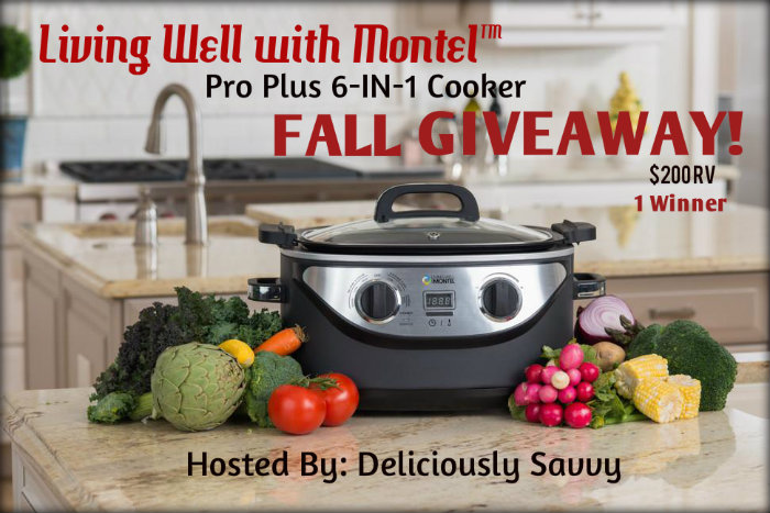Enter the Living Well with Montel™ Pro Plus 6-IN-1 Cooker Fall Giveaway. Ends 10/26