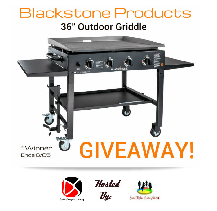 "Enter the Blackstone Products 36"" Outdoor Griddle Giveaway. Ends 6/5"