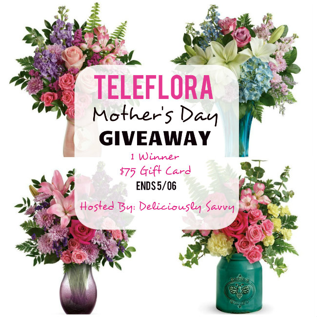Teleflora Mother's Day Giveaway ~ 1 Winner ~ $75 Gift Card (Ends 5/06) #LoveOutLoud @Teleflora