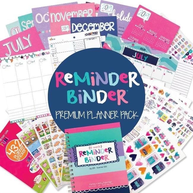 Reminder Binder Premium Planner Pack