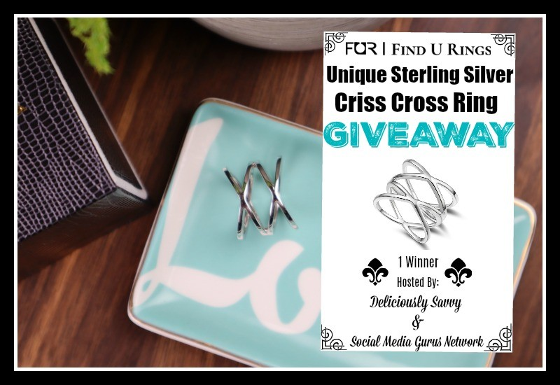 Find U Rings Unique Sterling Silver Criss Cross Ring Giveaway ($100 RV ~Ends 8/14) @SMGurusNetwork @find_u_rings