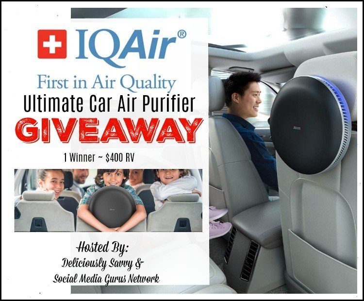 IQAir Ultimate Car Air Purifier Giveaway!