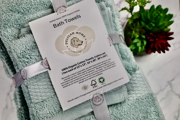 Delilah Home Organic Cotton Towel 6Pc Set