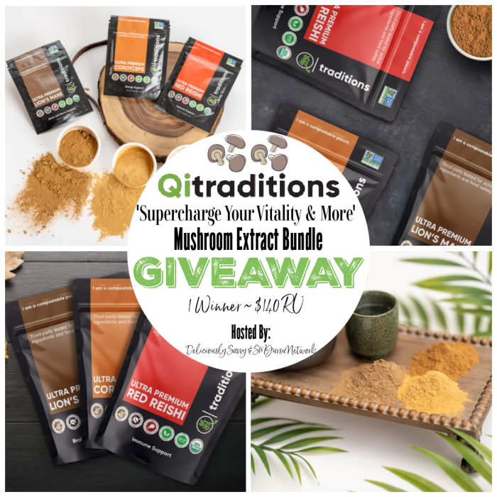 Qi Traditions Mushroom Extracts Bundle Giveaway